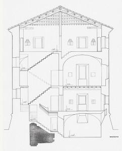 """Rilievo della """"Torre della Finanza"""" a Volano (FE). (1986)"""