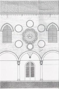 """Rilievo di """"Casa Romei"""" a Ferrara. (1986)"""