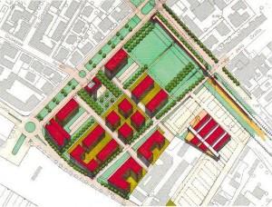 Progetto di fattibilità per la redazione di un Piano Particolareggiato di Iniziativa Pubblica soggetto a programma integrato di intervento sull'area di proprietà comunale di via Darsena  (ex M.O.F). (1996)