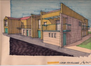 Progetto e D.L. di insediamento residenziale di n°8 unità immobiliari a Chiesuol del Fosso (FE). (1995)