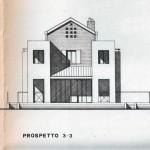 Progetto e D.L. per la costruzione di casa bifamiliare di mq.720 a Pontegradella (FE). (1988)