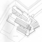 Progetto di fattibilità per il recupero e riqualificazione urbanistica di fabbricati dismessi ad uso industriale da adibirsi ad uso residenziale e terziario, in Ferrara via Bologna sottomura Porta Paola. (1996)