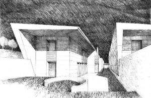 Progetto di un intervento residenziale a Ferrara per la realizzazione di quattro unità nel sottomura, via degli angeli. (2003)