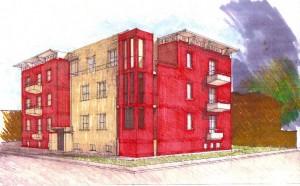 Progetto e Direzione Lavori di edificio residenziale di sei unità immobiliari a Ferrara. (2004)
