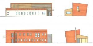 Progetto per la  nuova costruzione di un edificio da adibire ad ambulatorio medico e residenza a  Casumaro - Mo. (2006)
