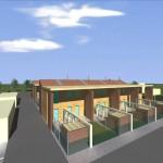 Progetto preliminare per la realizzazione di residenze a schiera a Casaglia - FE. (2007)