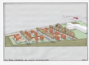 Progetto preliminare per la partecipazione al bando del Comune di Ferrara per l'ammissione al 1° POC di area a Malborghetto (FE). (2011)