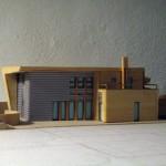 Progetto per il recupero di area artigianale tra la darsena e le mura di Ferrara per la realizzazione di 19 unità residenziali e direzionali. (2003)