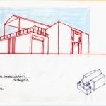 Progetto e D.L. per la costruzione di casa bifamiliare di mq.400 a Casaglia (FE). (1986)