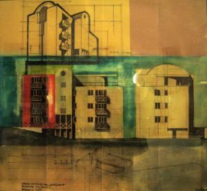 Progetto di massima di edificio residenziale di 8 alloggi ad Altedo – BO. (1983)