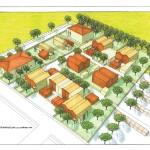 Progetto di nuovo insediamento residenziale a Ferrara, località Pontetravagli. (2012)