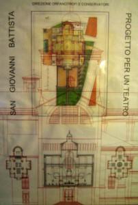 Progetto definitivo per il recupero della chiesa di San Giovanni Battista a Ferrara da adibire a sala polifunzionale. (2003)
